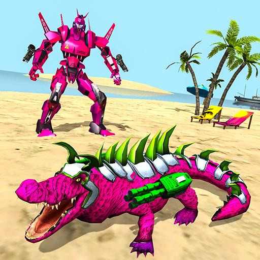 Real Robot Crocodile Simulator- Robot transform Mod apk download – Mod Apk 1.0.19 [Unlimited money] free for Android.