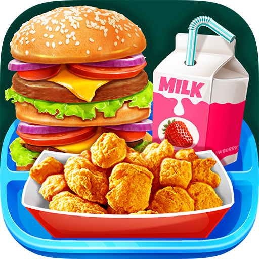 School Lunch Food – Burger, Popcorn Chicken & Milk Mod apk download – Mod Apk 1.3 [Unlimited money] free for Android.