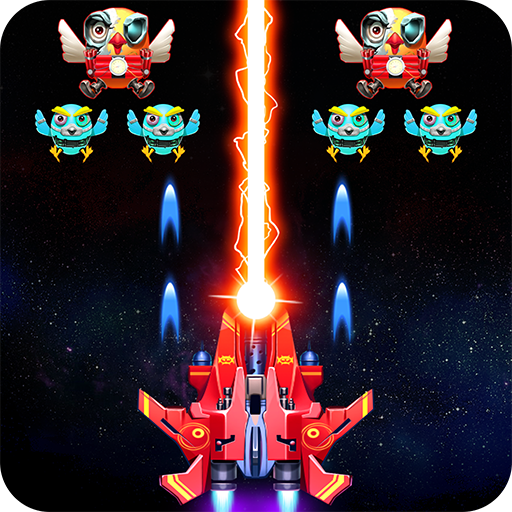 Galaxy Attack: Robot Transform Chicken Shooter Mod apk download – Mod Apk 12.2 [Unlimited money] free for Android.