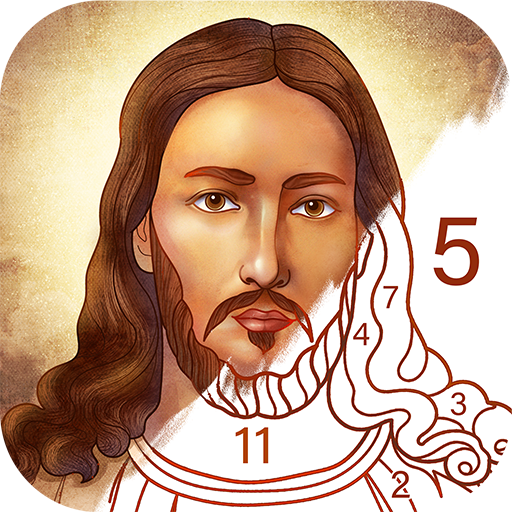 Bible Coloring – Paint by Number, Free Bible Games Pro apk download – Premium app free for Android