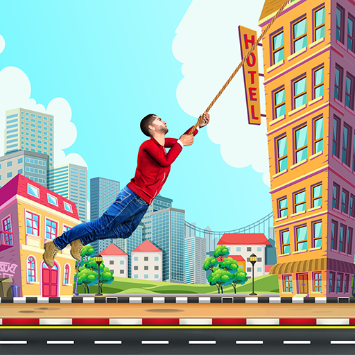 City bounce rope hero–Free offline adventure games Pro apk download – Premium app free for Android