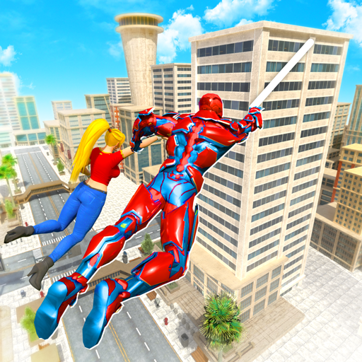 Flying Police Robot Rope Hero: Gangster Crime City Pro apk download – Premium app free for Android