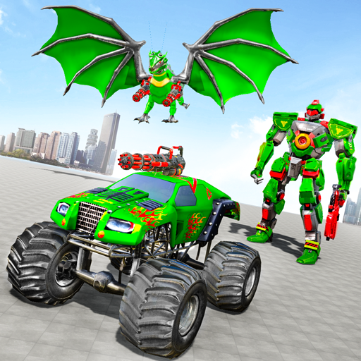 Monster Truck Robot Wars – New Dragon Robot Game Mod apk download – Mod Apk 1.1.5 [Unlimited money] free for Android.