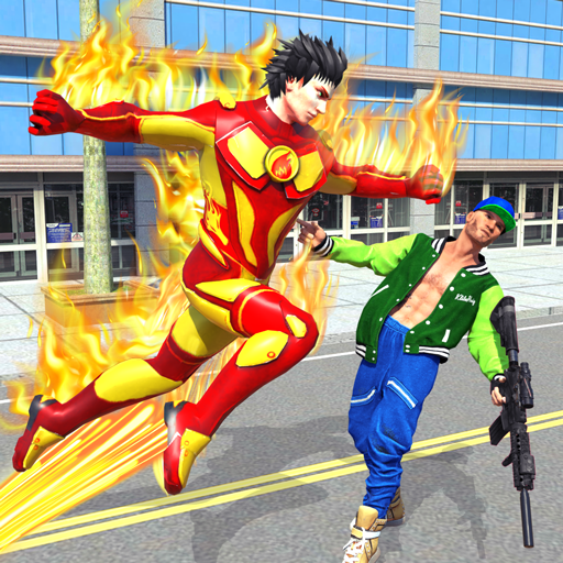 Flying Police Robot Fire Hero: Gangster Crime City Pro apk download – Premium app free for Android