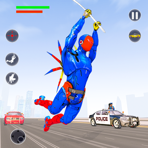 Flying Robot Rope Hero – Vegas Crime City Gangster Pro apk download – Premium app free for Android