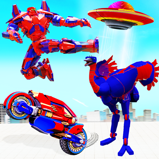 Mod apk download – Mod Apk Flying Bike Ostrich Robot Game  47 [Unlimited money] free for Android
